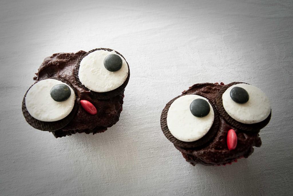 Oreo ugle cupcake